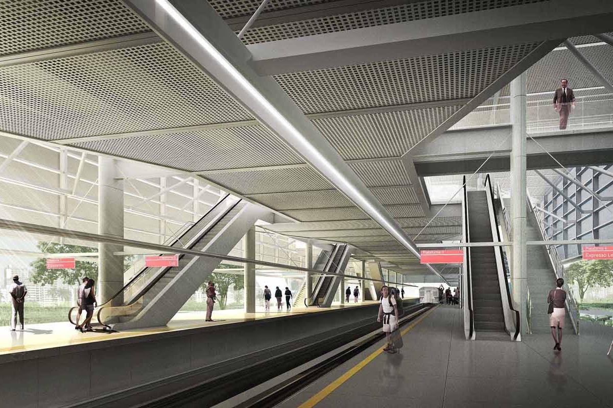 Projeção da futura Estação Suzano da CPTM
