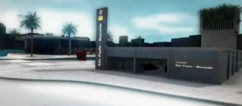 Projeção da futura Estação São Paulo-Morumbi