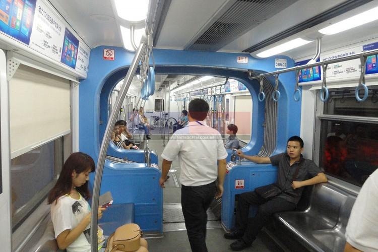 Monotrilho da cidade chinesa de Chongqing: capacidade semelhante a de um metrô convencional