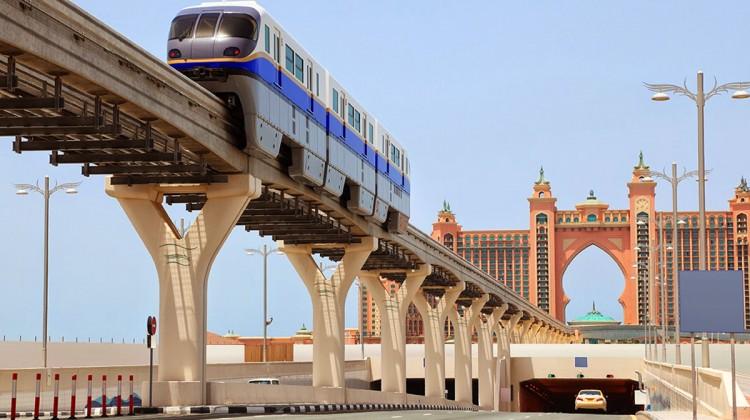 Monotrilho de Dubai: impacto visual mínimo na região