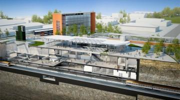 Projeção da estação Santa Marina