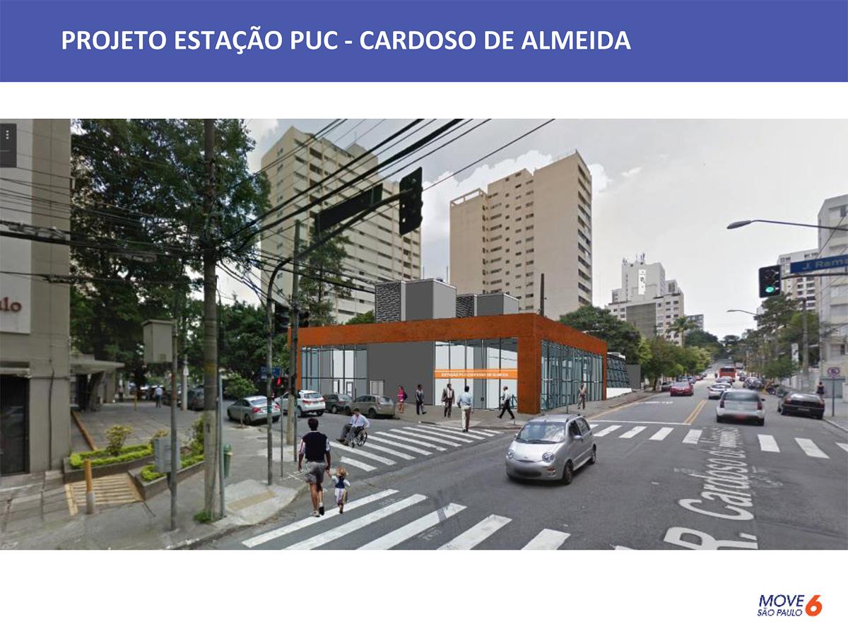 Assim será o acesso da estação PUC-Cardoso de Almeida