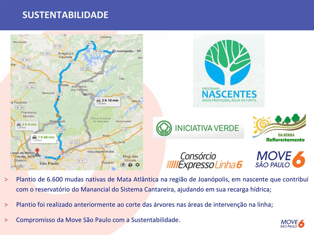 MoveSP tem projeto de compensação ambiental ligada ao sistema Cantareira
