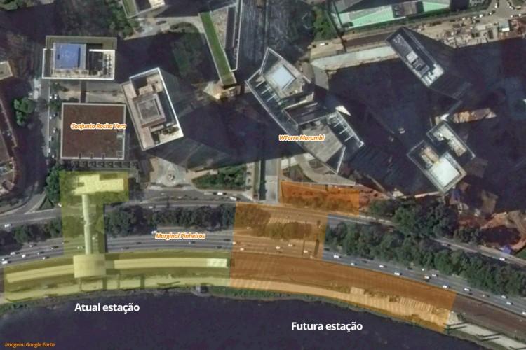 A nova estação Morumbi integrará de forma mais eficiente as linhas 9 e 17 e ficará ao lado da atual