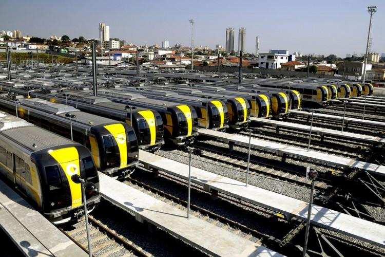 Pátio da ViaQuatro: Linha 4 completa 4 anos de operação