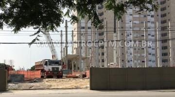 Edifício administrativo da estação Alto da Boa Vista surge