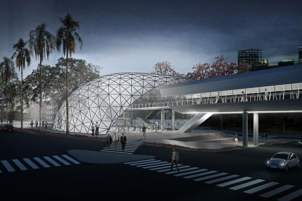 Projeção da futura estação Brooklin