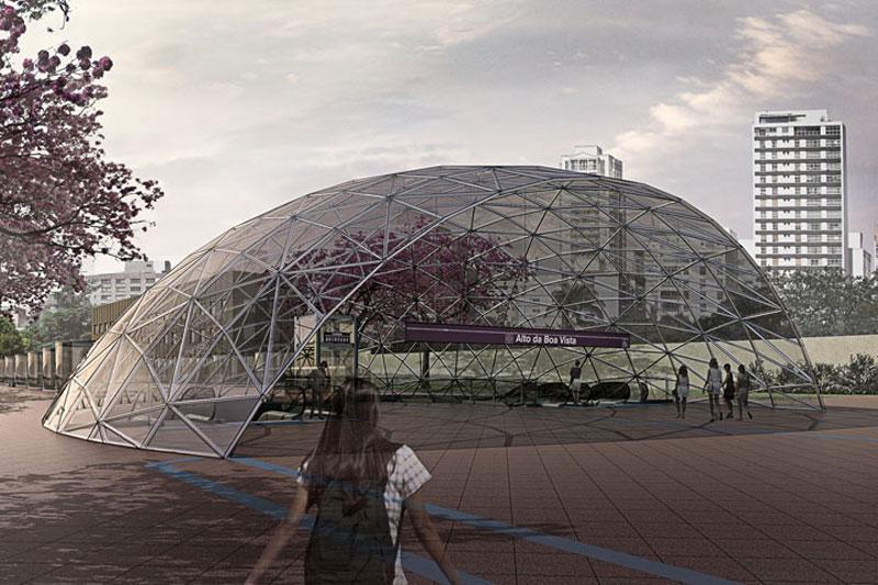 Projeção da futura estação Alto da Boa Vista