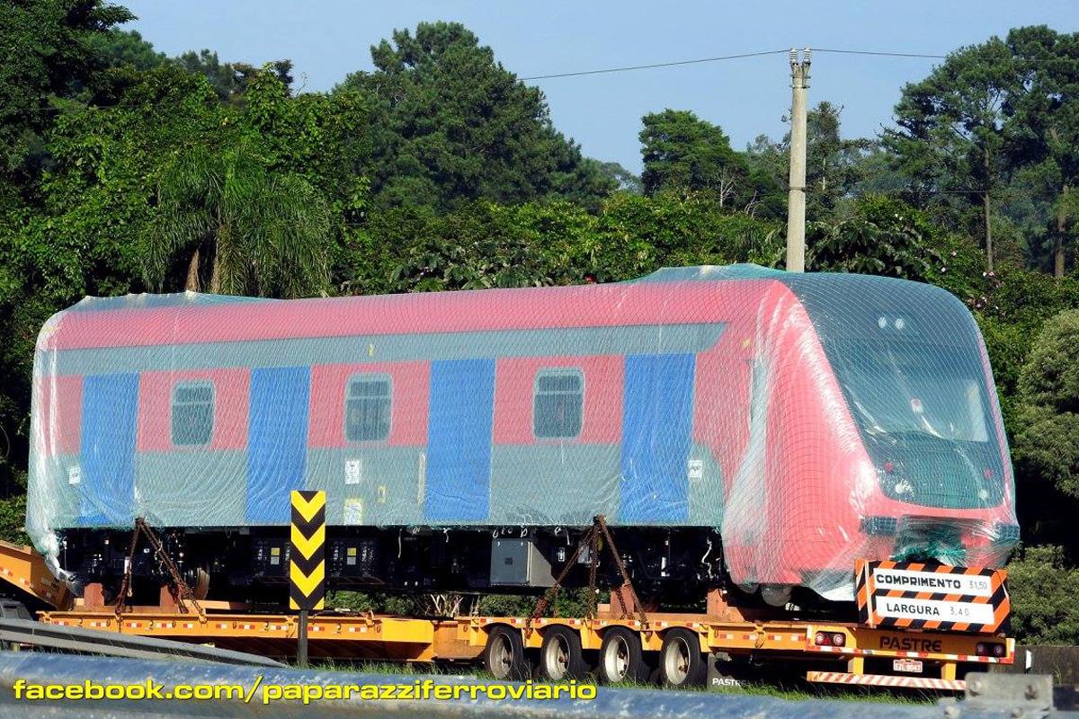 Primeiro trem da Série 9500 da CPTM foi fabricado pela Rotem e chegou ao Brasil no final de janeiro