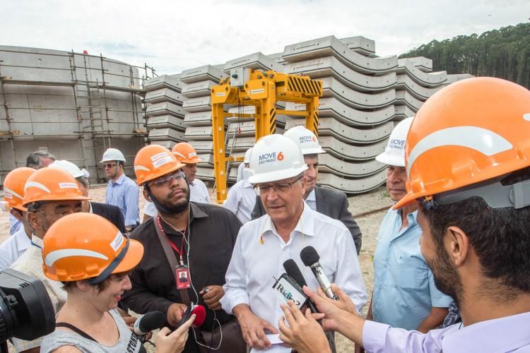 Alckmin: escavação sentido São Joaquim começará em setembro