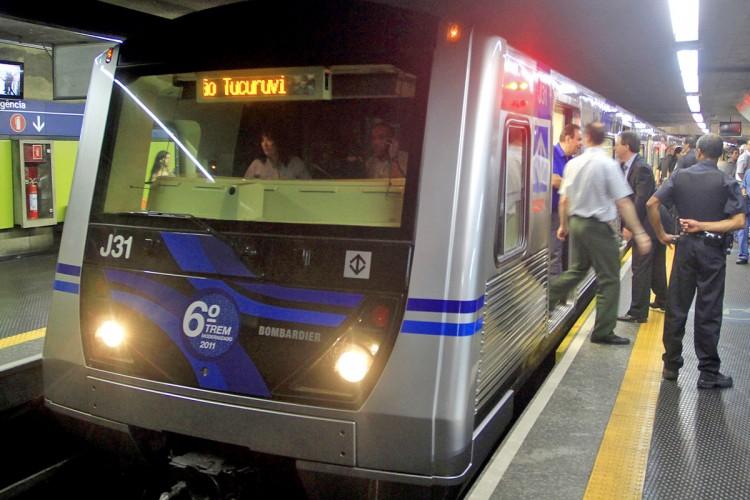 Trem da frota J: equipado com CBTC, ele passou a operar na Linha 2 nesta semana