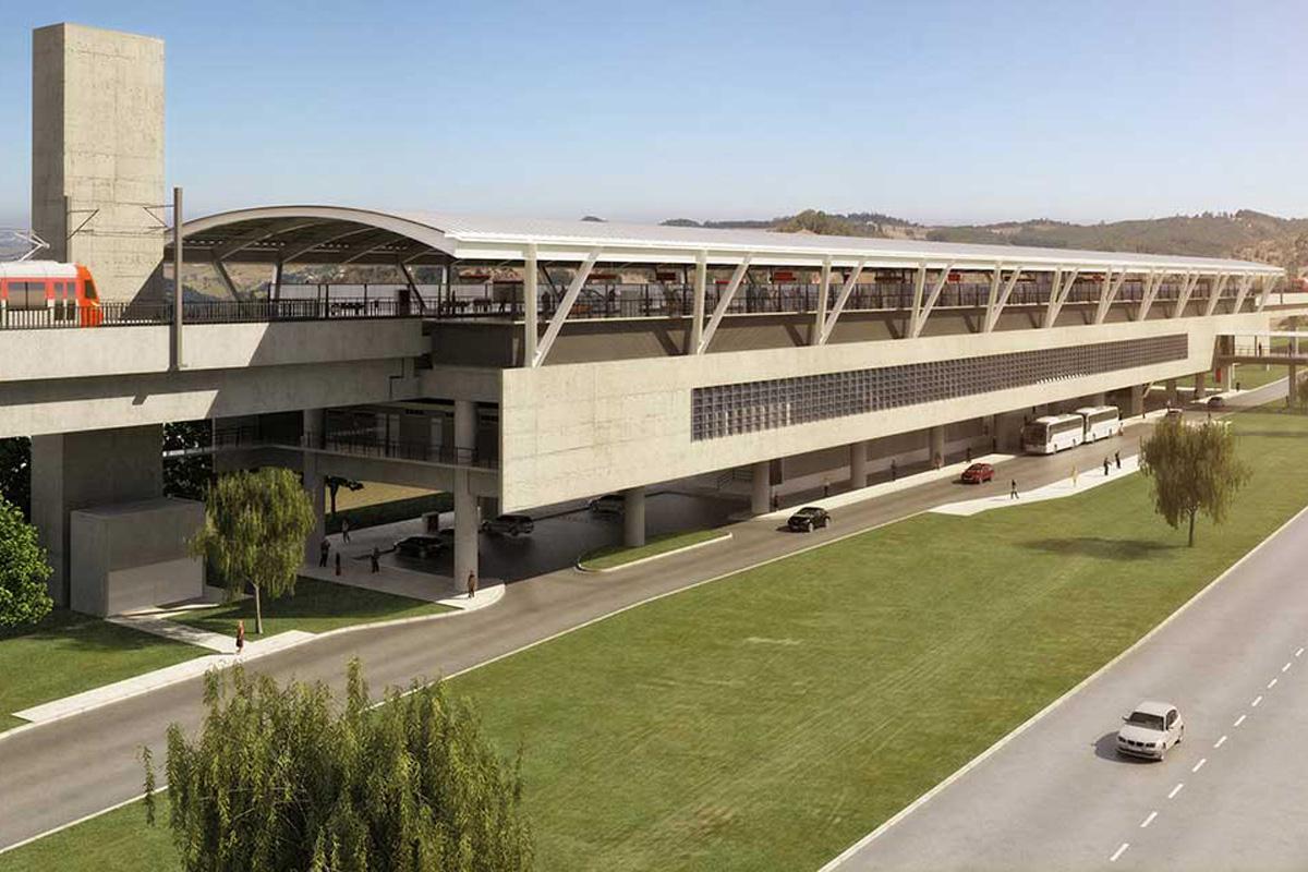Futura estação Aeroporto de Guarulhos da Linha 13-Jade