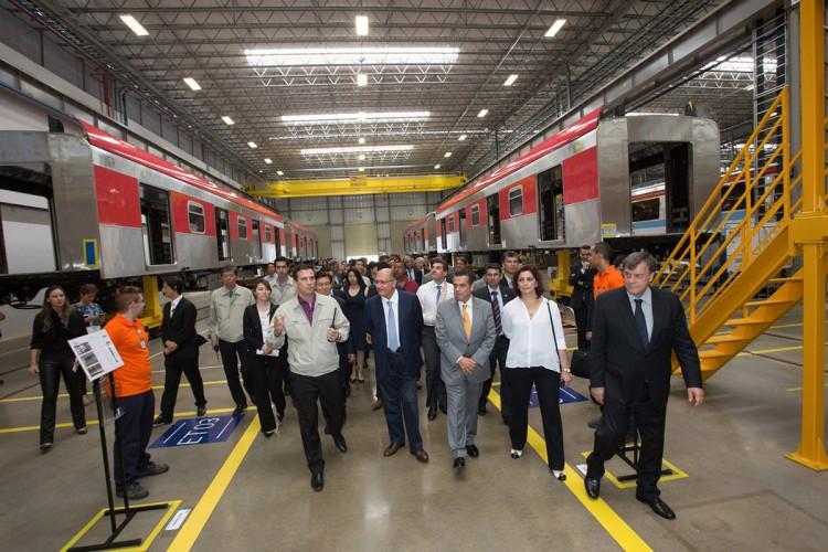 Fábrica tem capacidade para produzir 200 vagões por ano