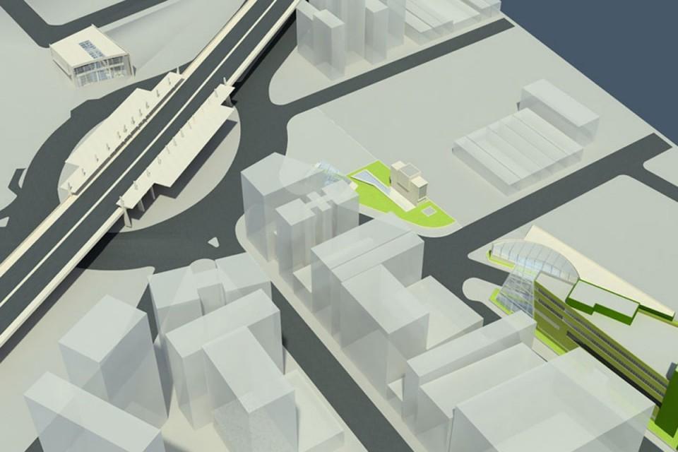 Projeção de como ficará a futura estação 14 Bis da Linha 6 Laranja