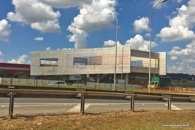 O futuro terminal de ônibus do Aeroporto de Guarulhos, onde os passageiros embarcarão na Linha 13