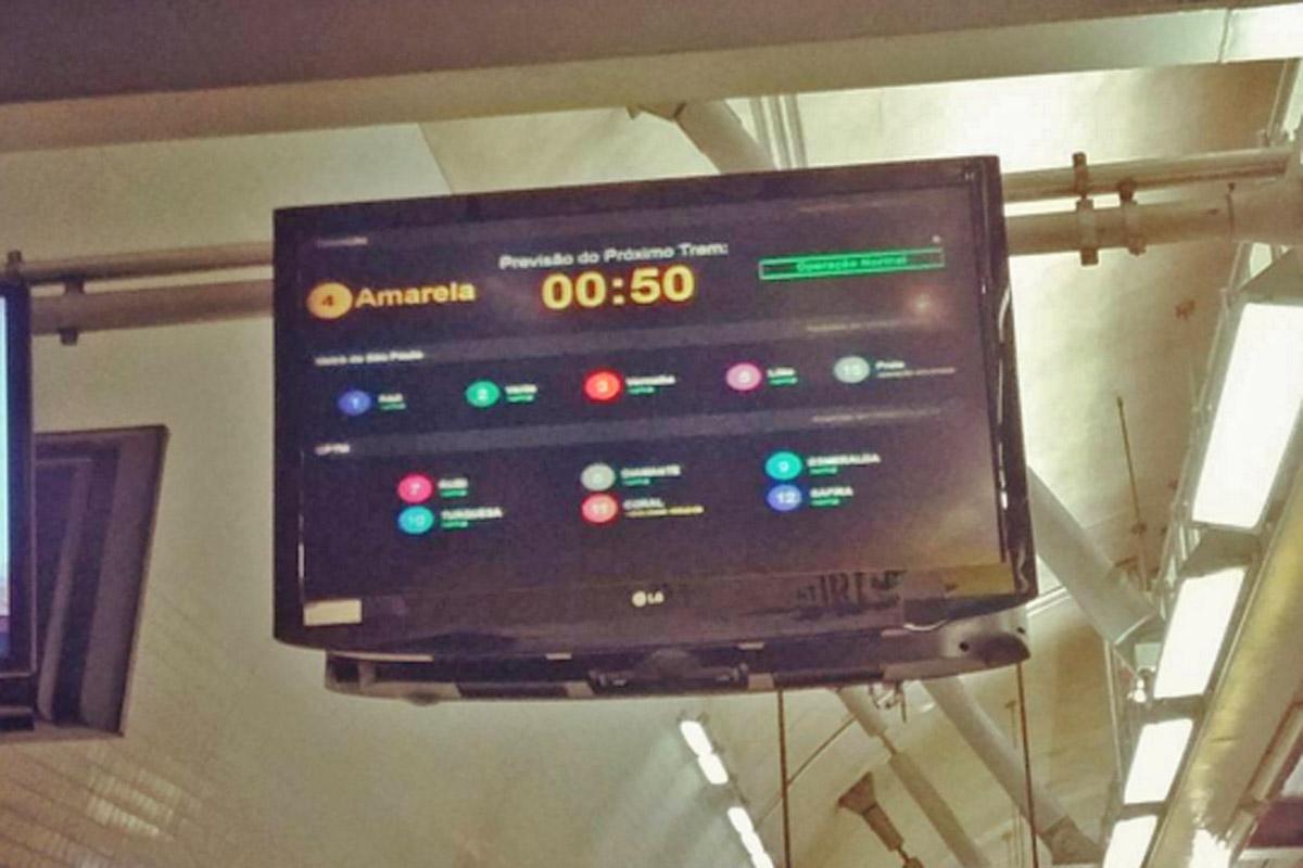 O monitor com a informação do tempo de espera (foto: Instagram)