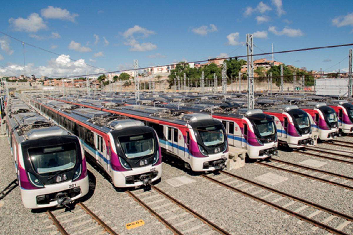 Novos trens do metrô da Bahia: em operação em cinco meses