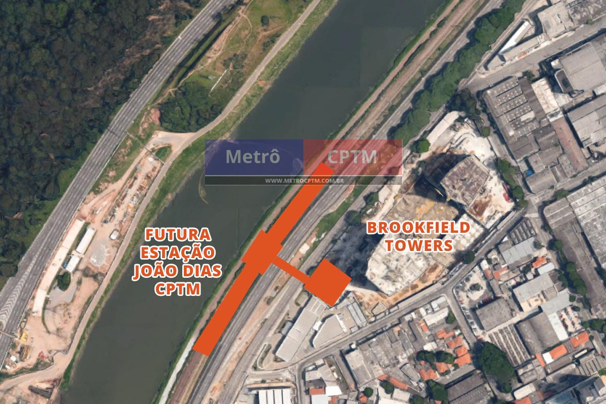 Local onde deve ser erguida a estação João Dias