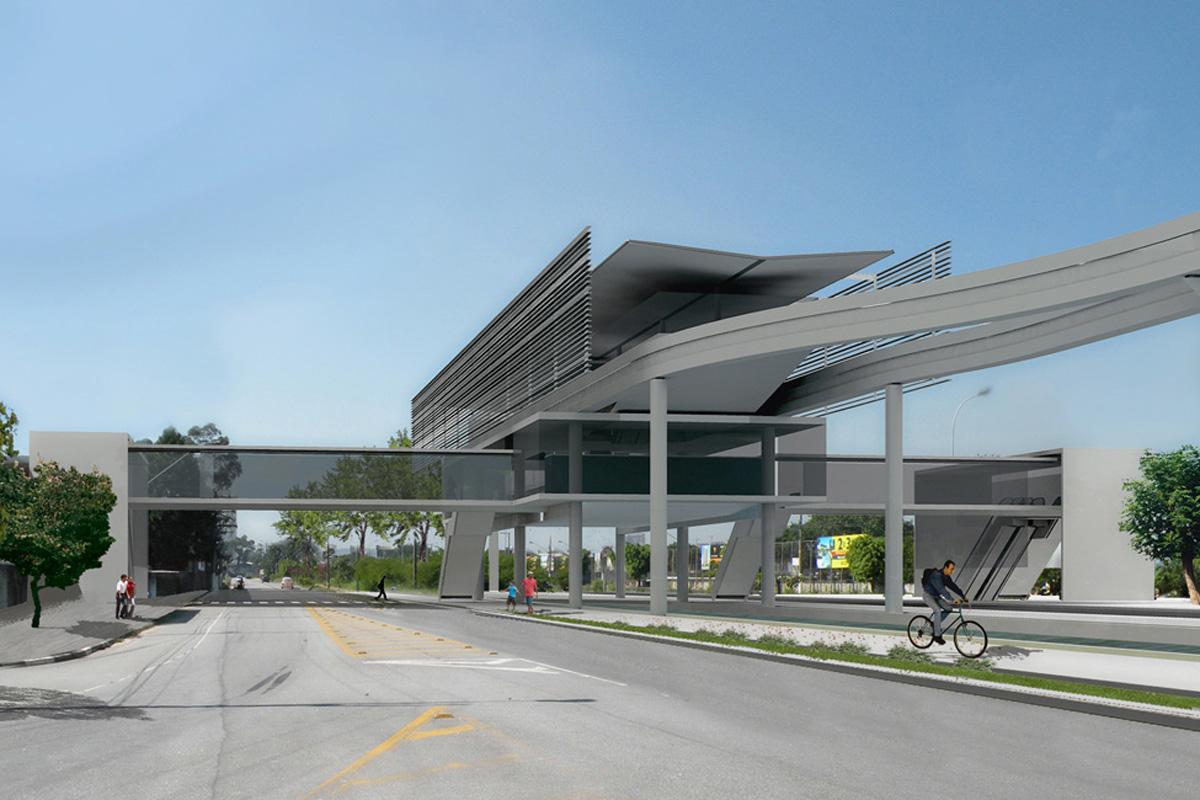 Projeto de estação da Linha 18 - Bronze