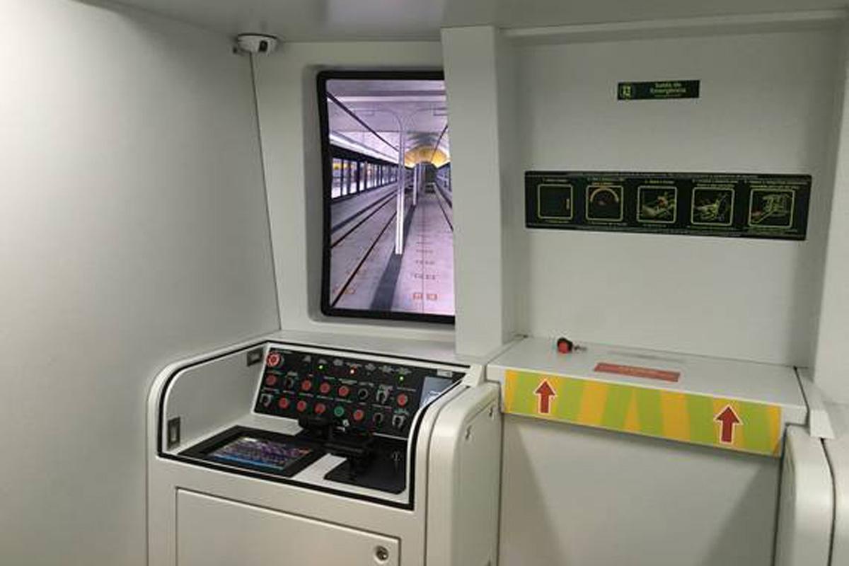 Simulador de trem da ViaQuatro