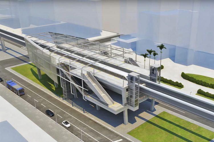 Um corte de uma das estações da Linha 18-Bronze: acesso fácil e rápido