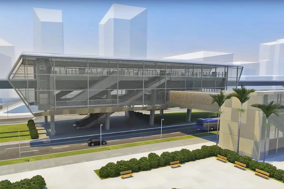Estação da Linha 18-Bronze: visual mais leve e moderno
