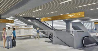 Mezanino da estação da Linha 18-Bronze