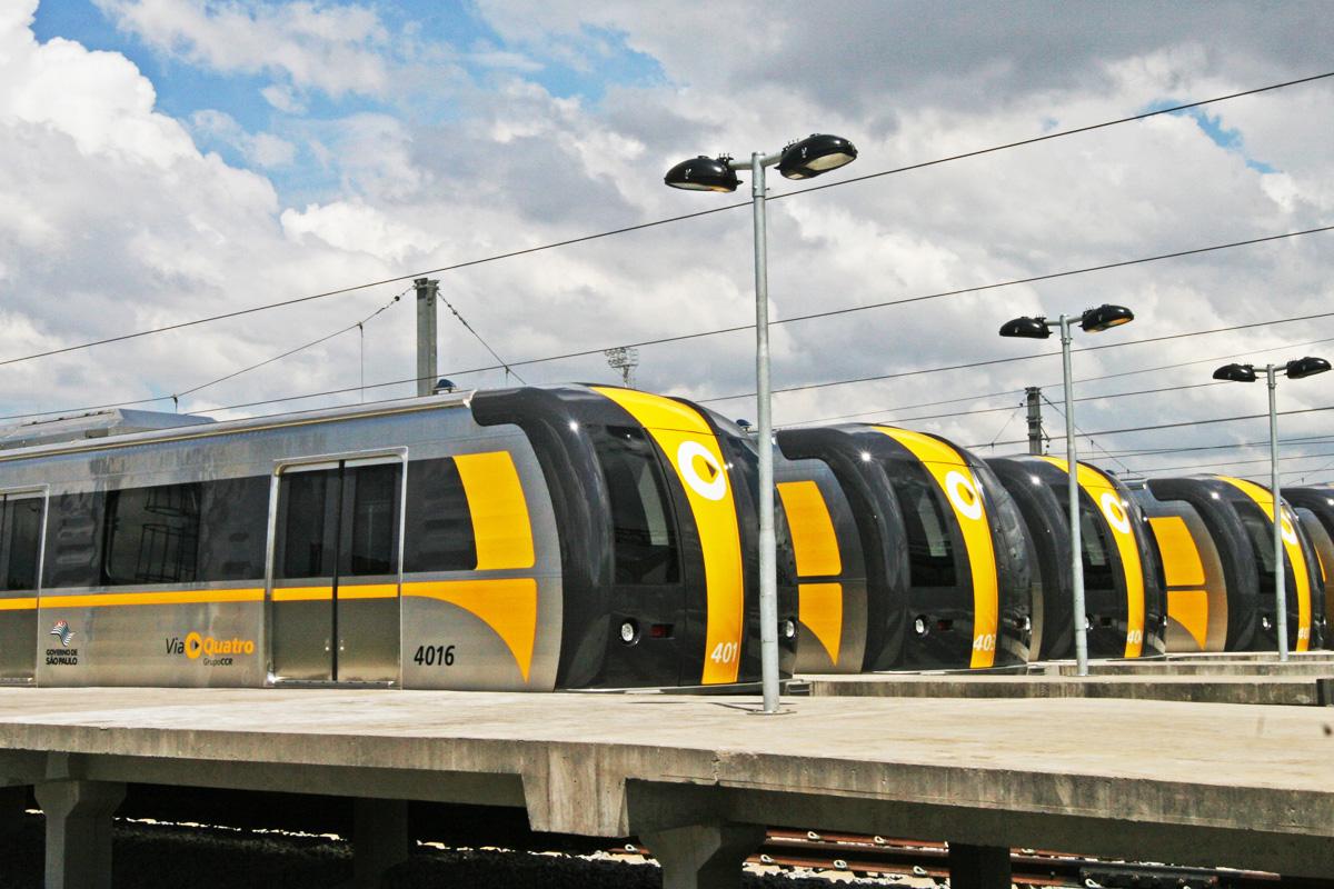Trem da Linha 4: novas estações devem começar a ser entregues no final de 2017