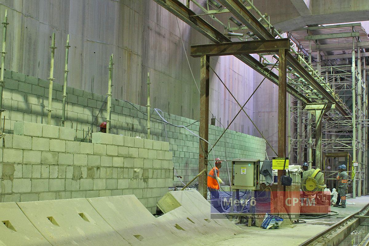 Os blocos servirão de lateral para uma das plataformas de embarque de Eucaliptos