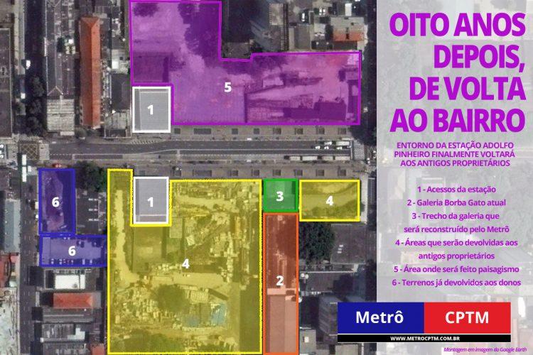 Entenda o que muda em volta da estação Adolfo Pinheiro