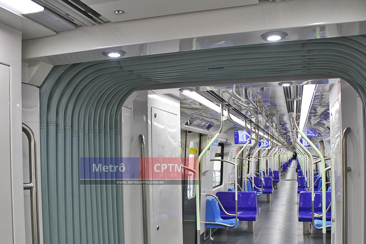 Novos trens da Frota P terão gangways, a passagem livre entre os vagões
