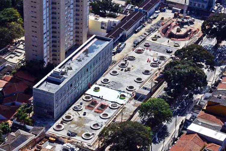 Vista aérea da estação Alto da Boa Vista