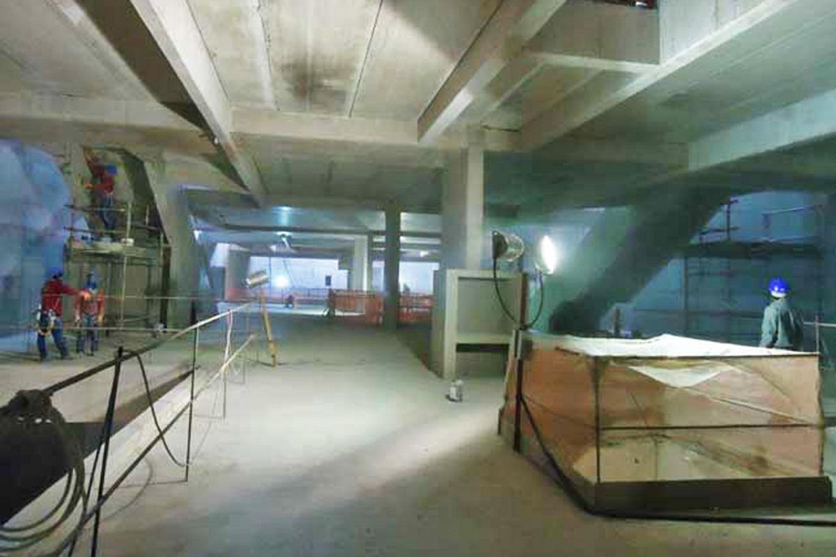 Interior da estação Borba Gato