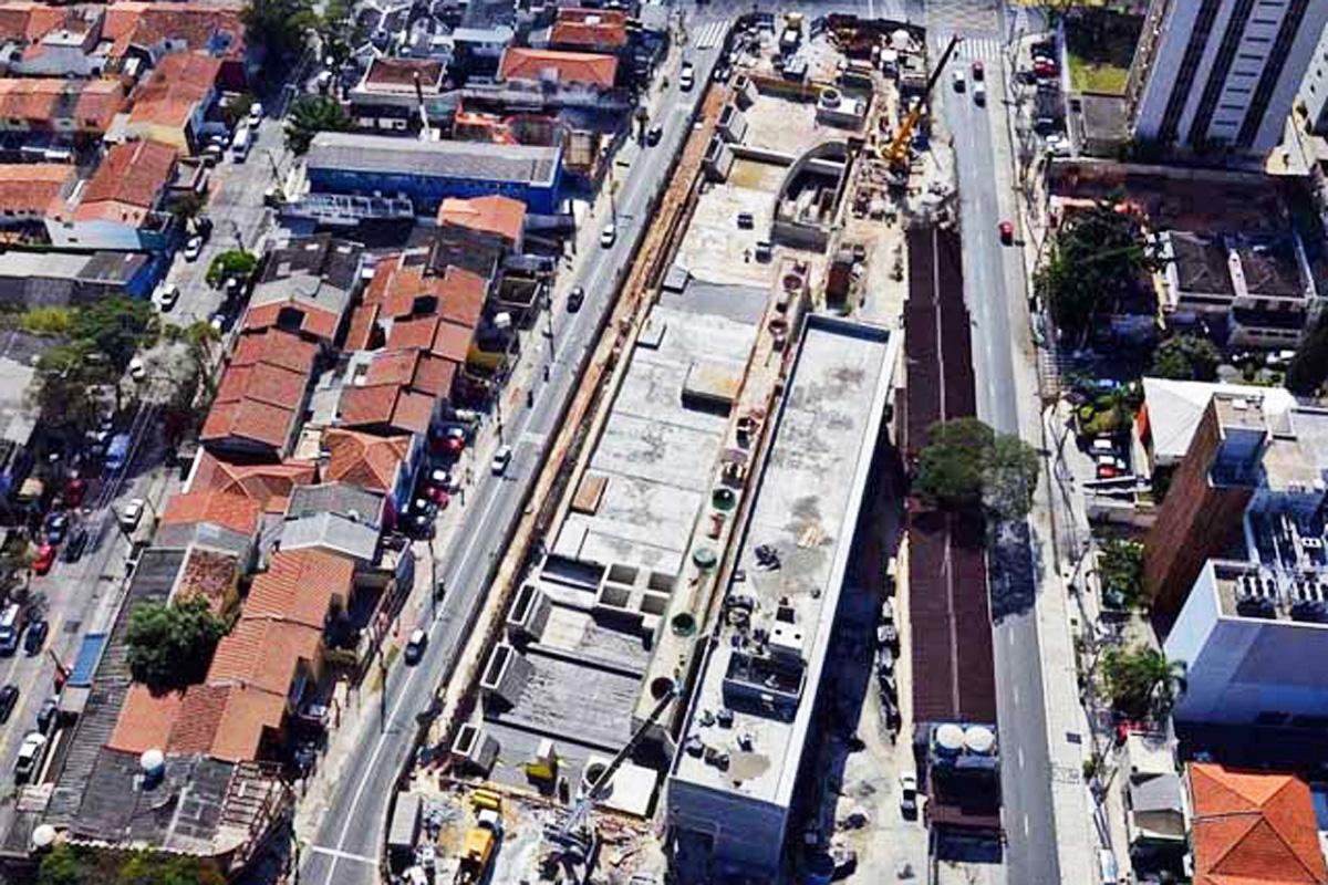 Vista aérea da estação Borba Gato