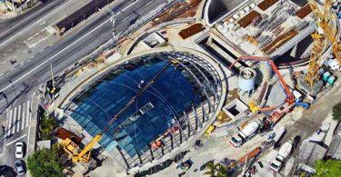 Vista aérea da estação Brooklin