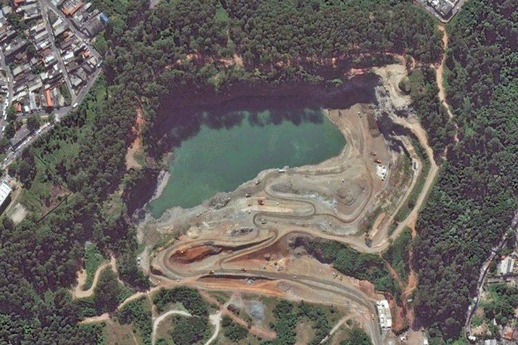 Área onde está sendo construído o pátio Morro Grande, na região da Brasilândia (Google)