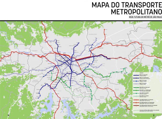 A rede futura do Metrô e da CPTM