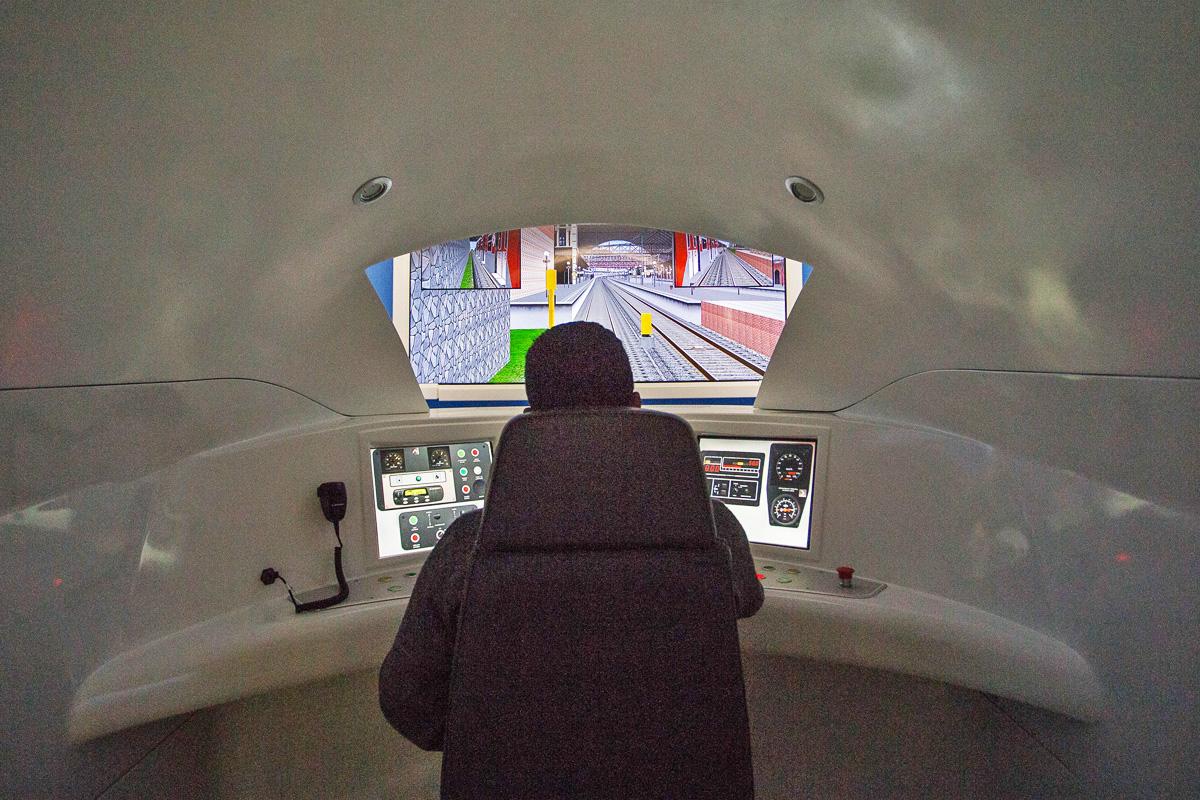 Simulador de trem da CPTM