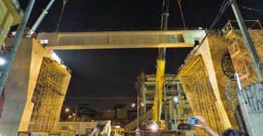 Via de plataforma sendo lançada em Camilo Haddad: estratégia para adiantar entrega da Linha 15 (foto: Sergio Mazzi)