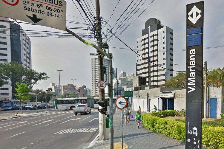 Estação Vila Mariana do Metrô (reprodução Google Street View)